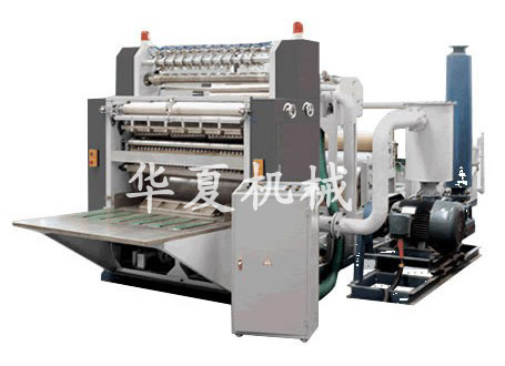 Four lines box drawing facial tissue paper machine